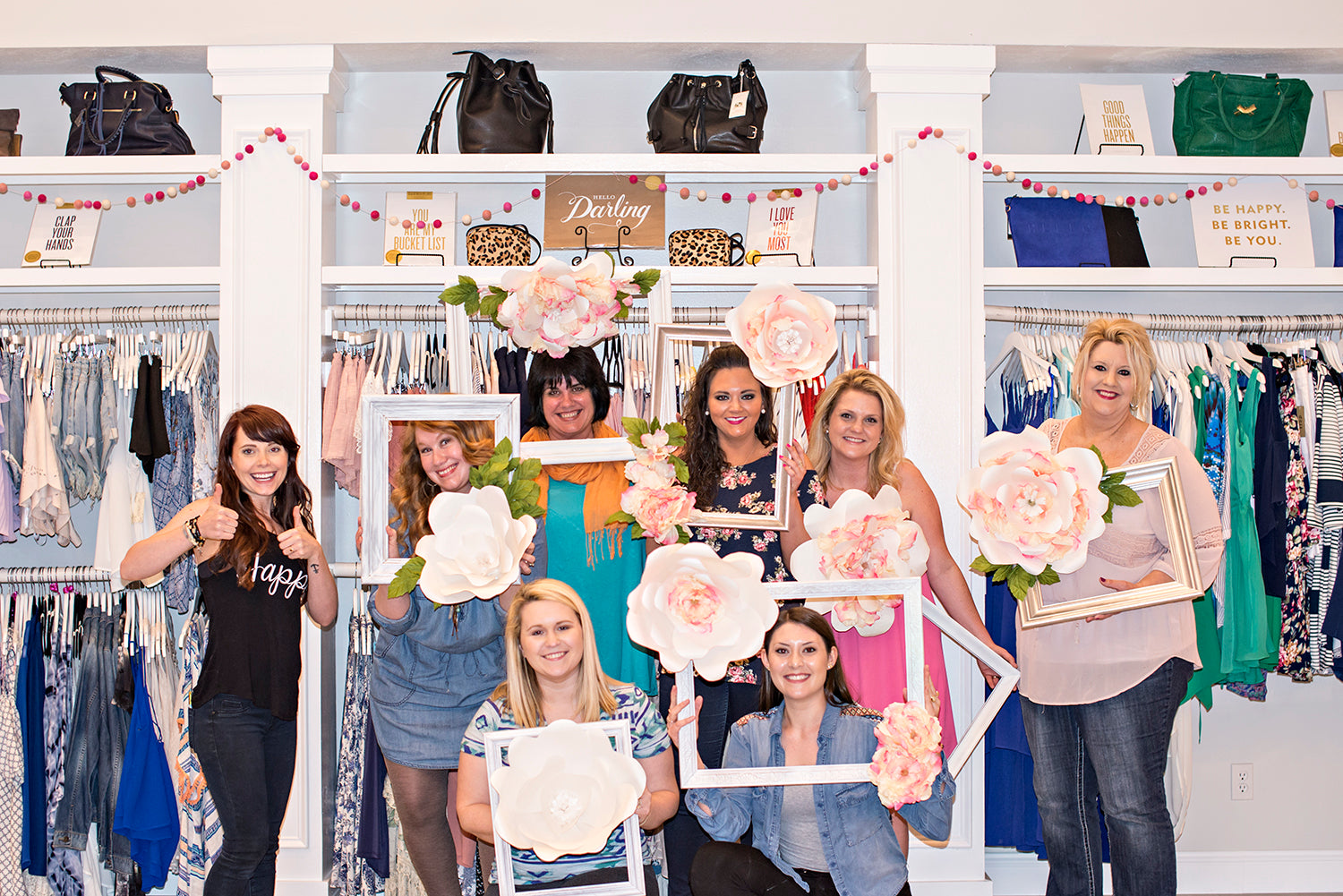 DIY Thursdays projects at Eccentrics Boutique. Paper Flower Frame