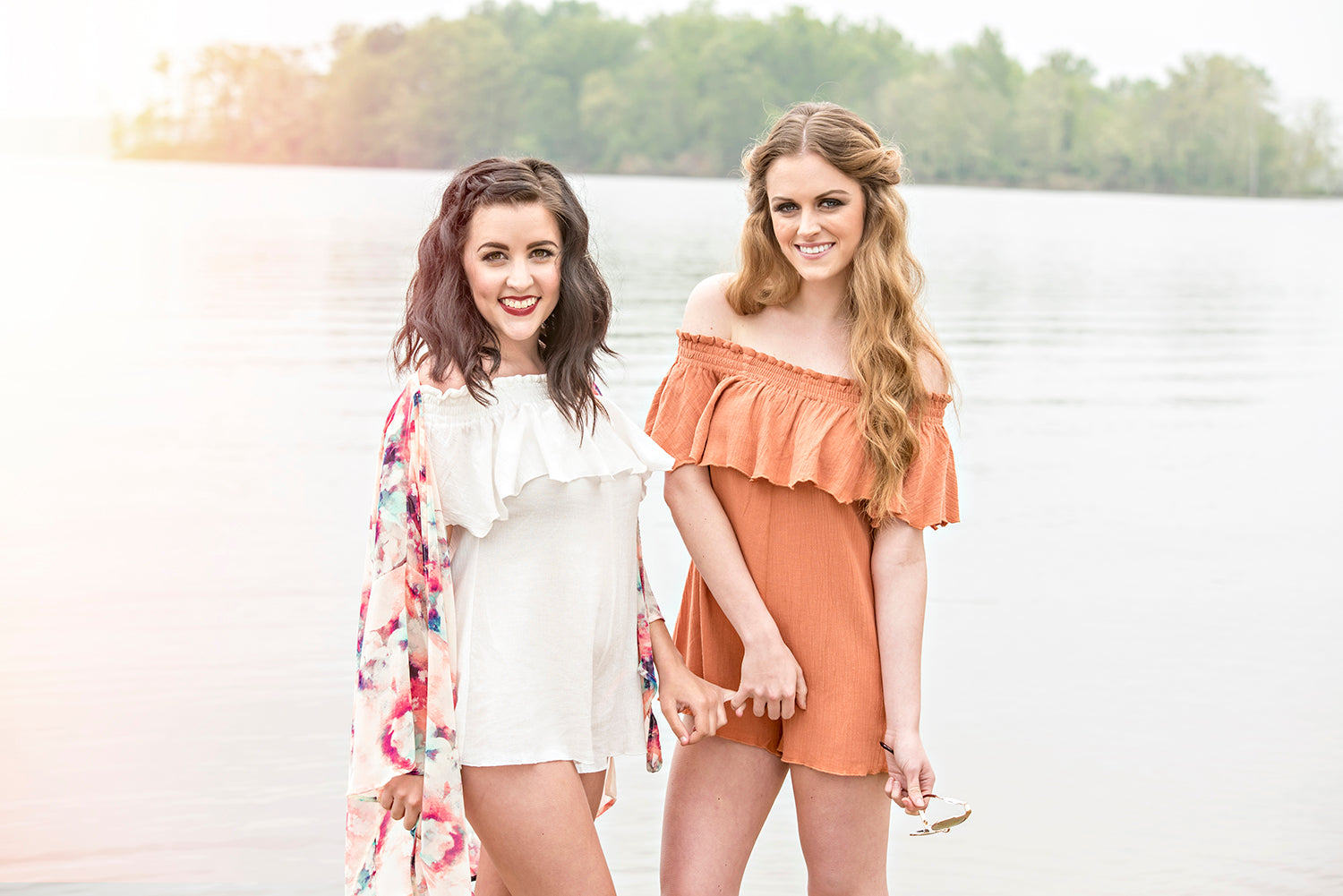 Women's off the shoulder rompers at Eccentrics Boutique