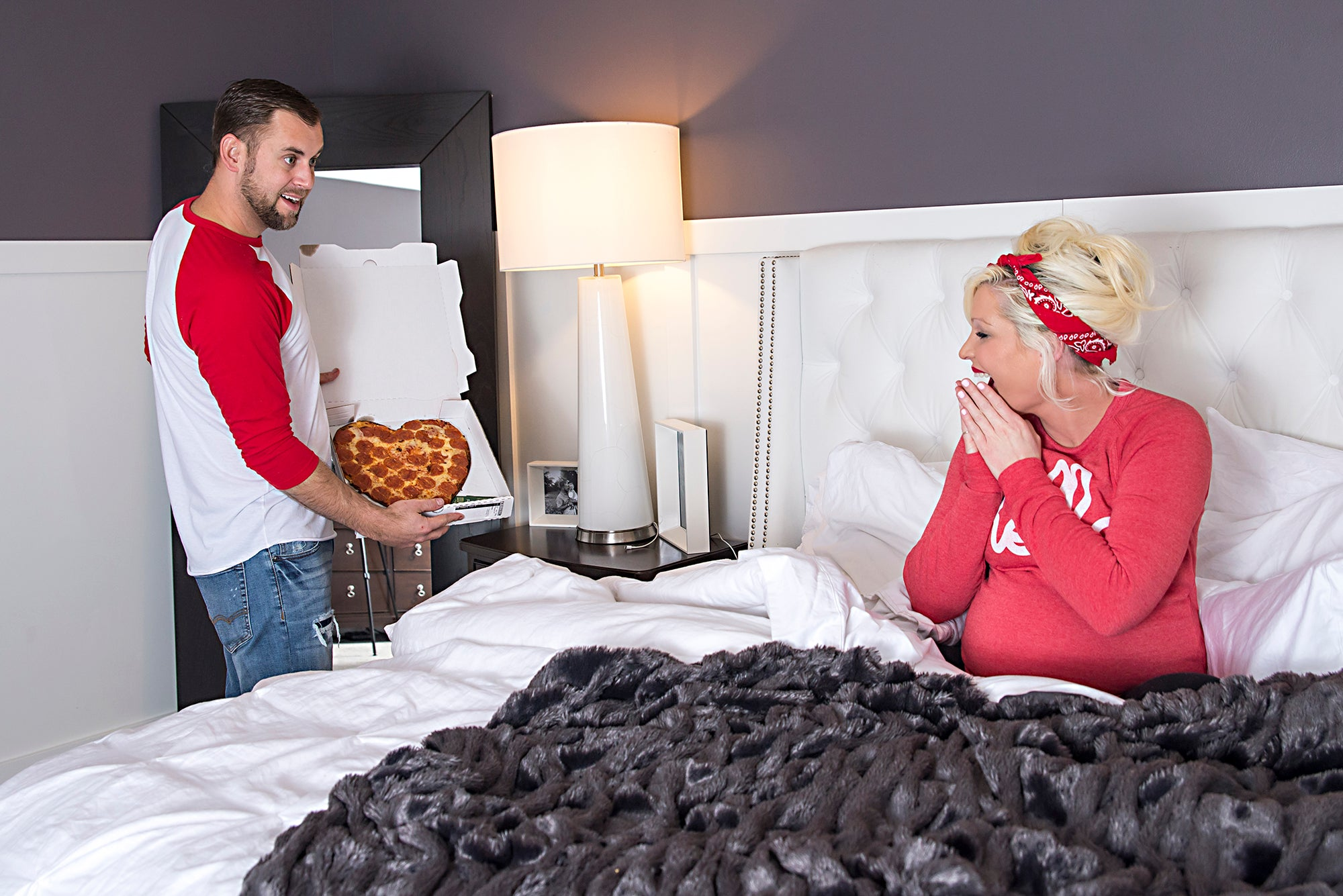 You've got a pizza my heart. Papa John's Pizza Valentine's Day Photo Shoot