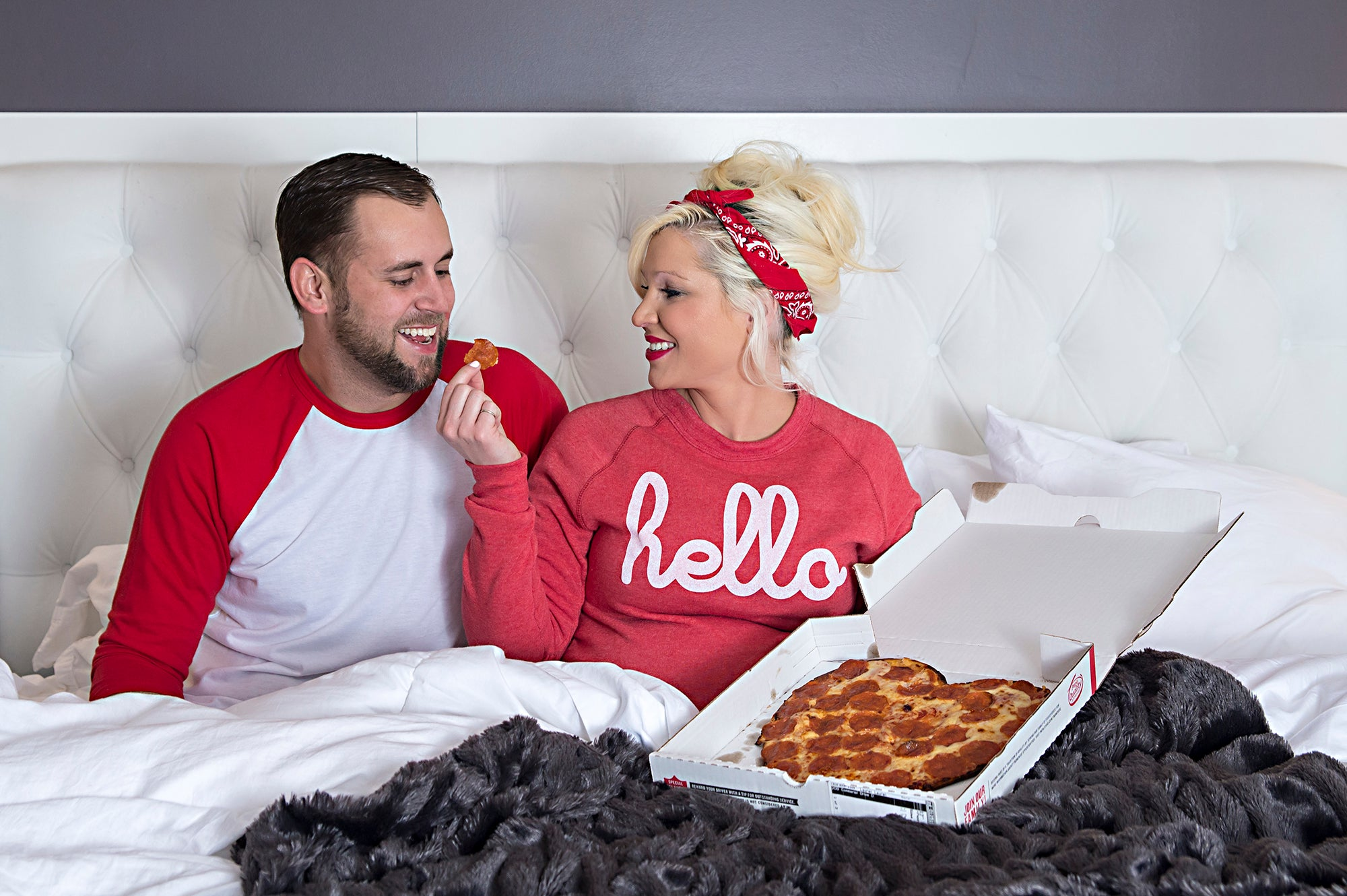 You've got a pizza my heart. Papa John's Valentine's Day heart-shaped pizza photo shoot