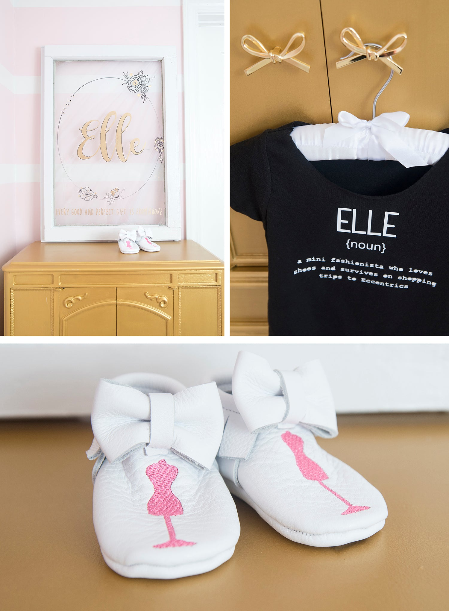 Pretty pink baby girl nursery inspiration by Eccentrics Boutique