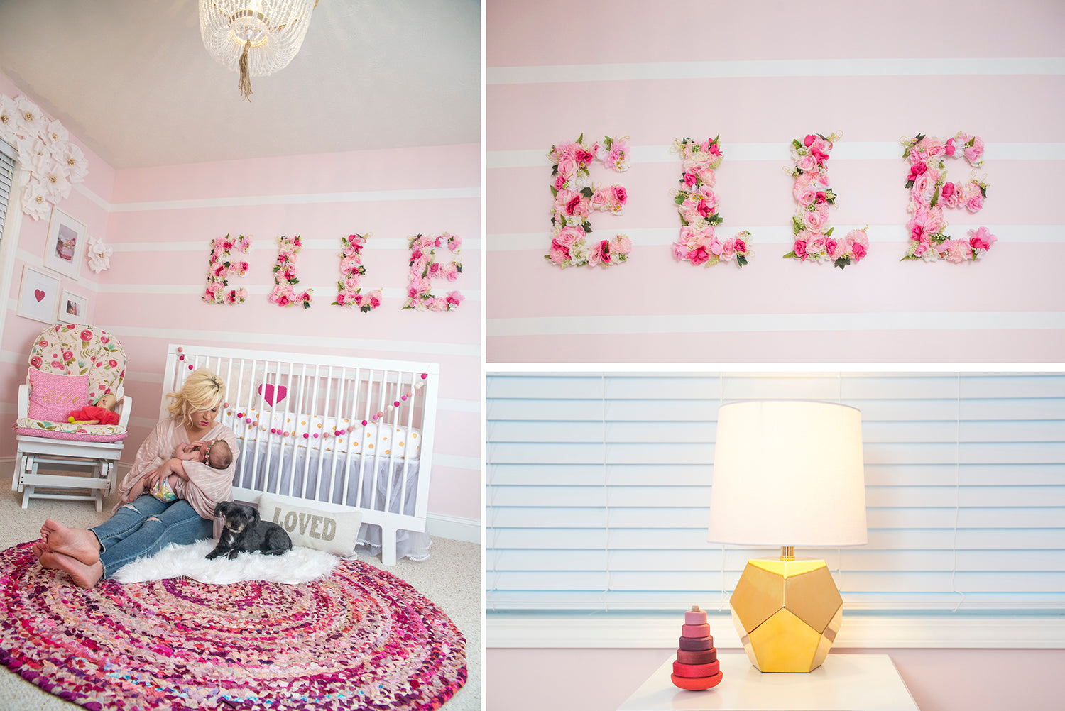 Pretty in pink baby elle 39 s nursery inspiration eccentrics for Elle decor nursery