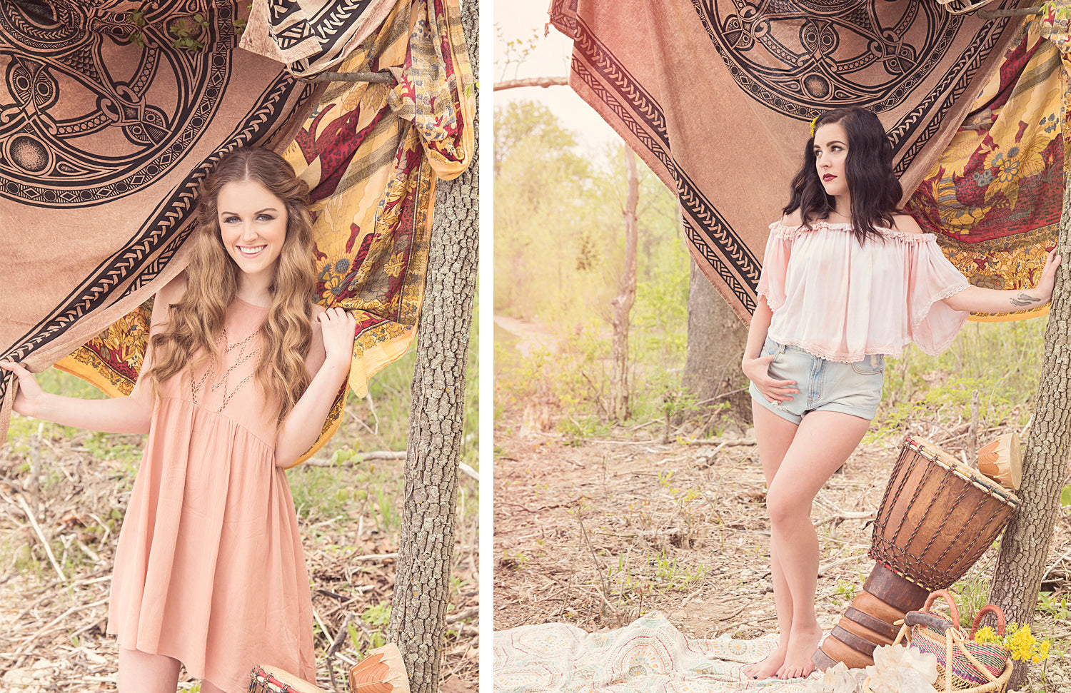 Bohemian inspired summer outfits at Eccentrics Boutique