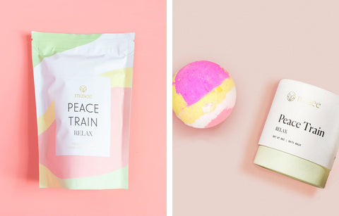 self-care detox bath salts and bath bombs