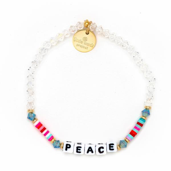 "Little Words Project ""Peace"" Sprinkles Bracelet"