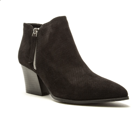 Women's Perforated Side Zip Bootie