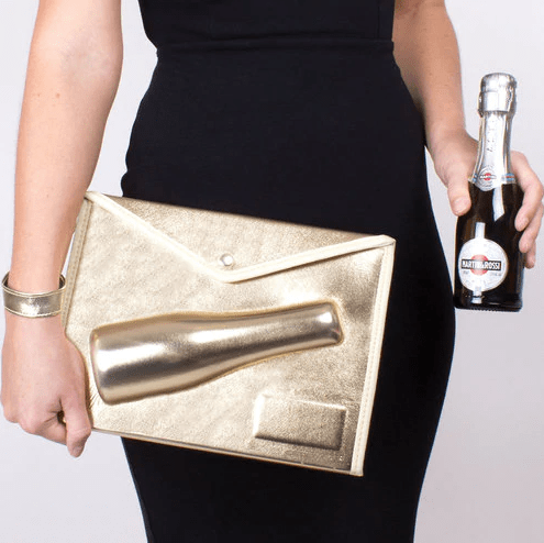 Gold Small Champagne Clutch