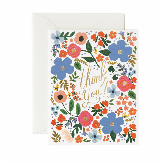 Rifle Paper Wild Rose Thank You Card