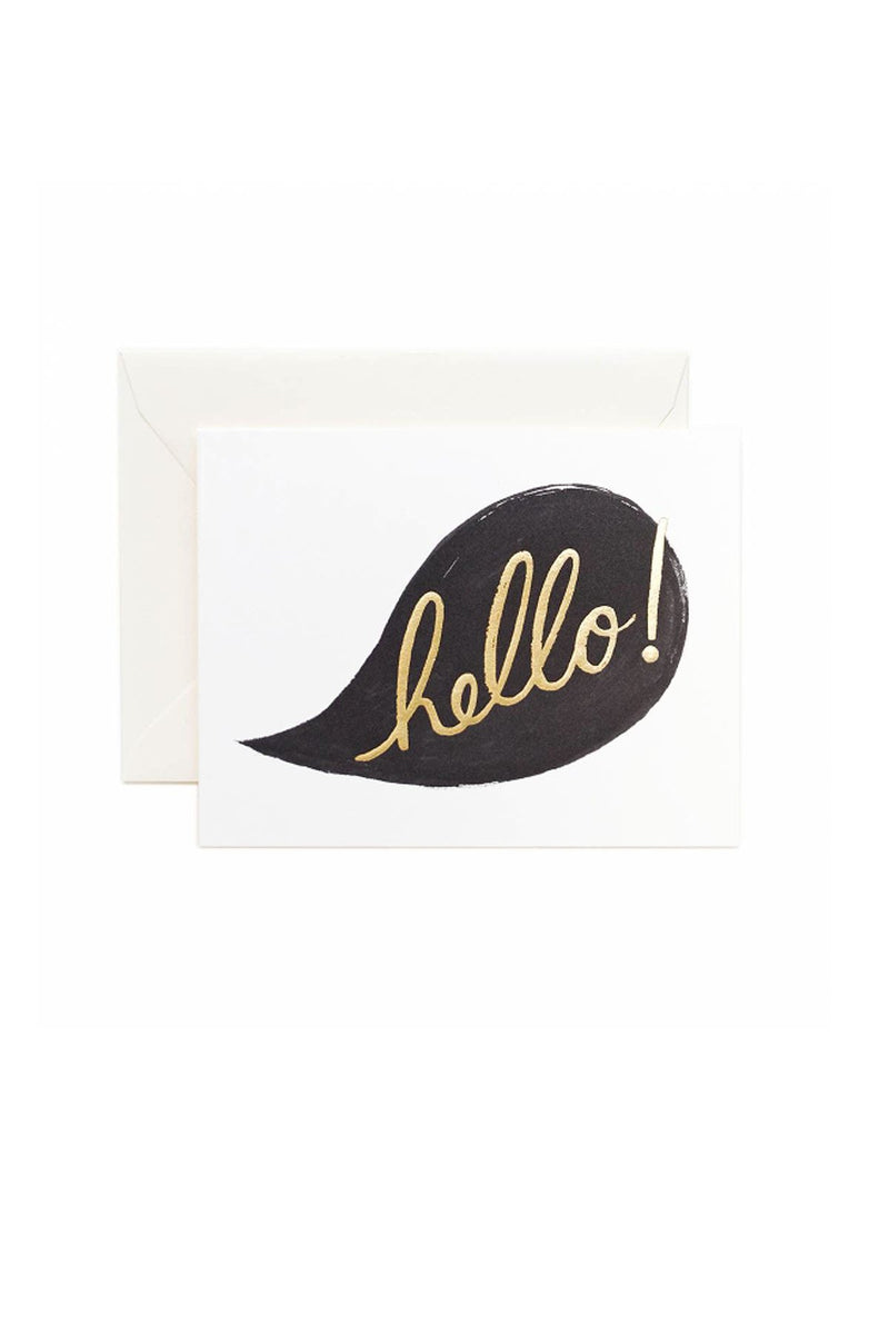 Hello Conversation Card - Eccentrics Boutique