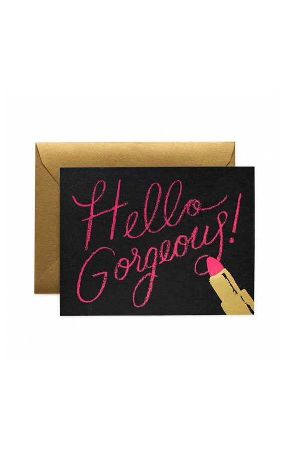 Greeting Card- Hello Gorgeous Card - Eccentrics Boutique