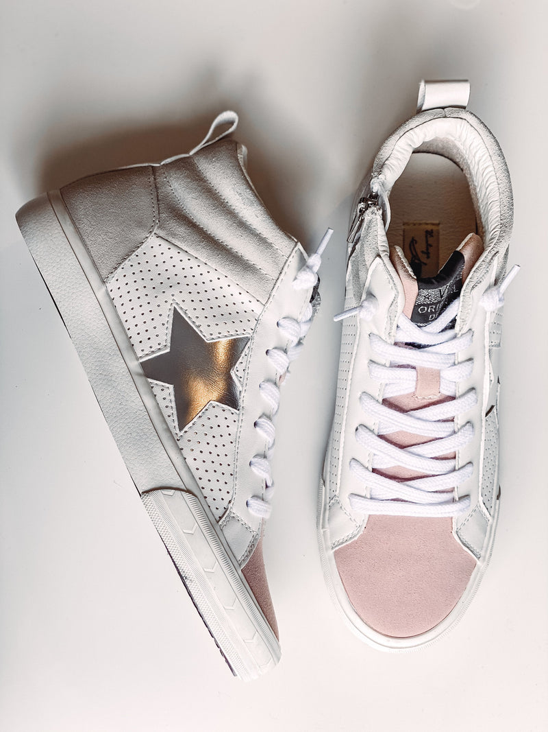 Jane High Top Sneaker with Silver Star