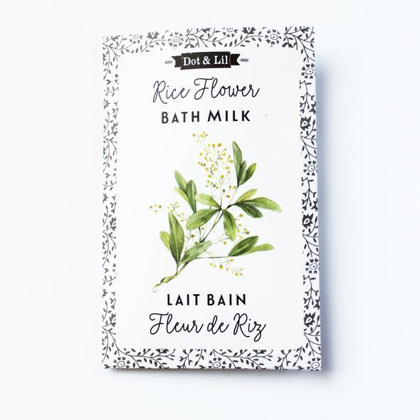 Dot & Lil Flower Bath Milk Sachet