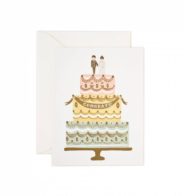 Congrats Wedding Cake Greeting Card
