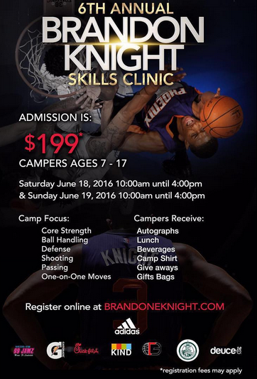 Deuce to Sponsor Brandon Knight Skills Clinic