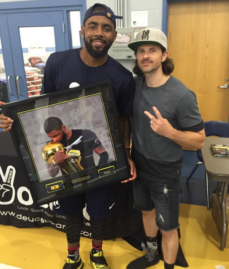 Deuce Gifts Kyrie Irving Framed Premium Bands
