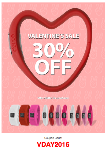 Valentines Day | 30% Off + FREE Band