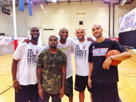 Open gym premier with kobe and kayne west