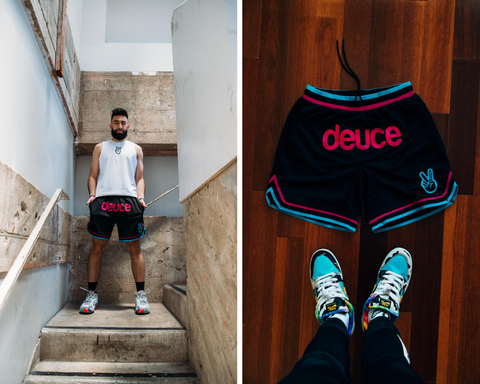 Deuce brand miami vice vibe basketball shorts nba