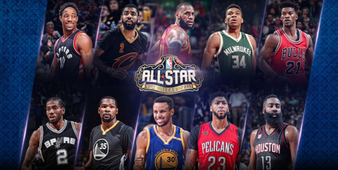 2017 NBA all star New Orleans starters