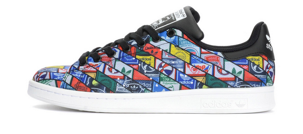 best sneakers 1c0a4 7b90d Adidas Stan Smith Originals Custom Collage Pattern