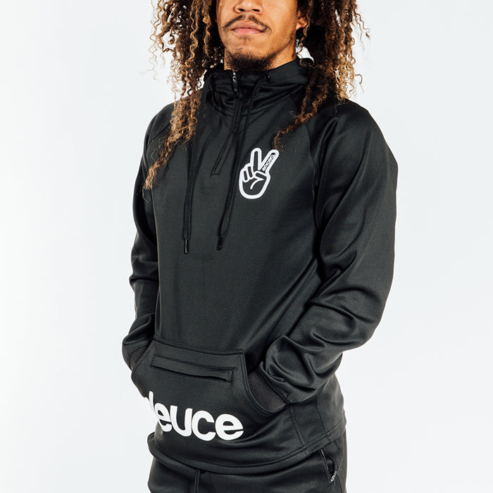 Deuce Brand NBA Basketball Athletic Hoodie zipper and kangeroo pouch