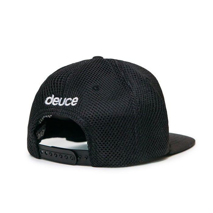 Deuce Brand athletic trucker hat black peace logo