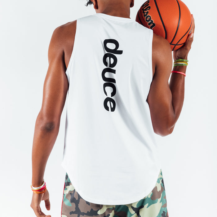 Deuce Brand athletic cut off Tee basketball training shirt