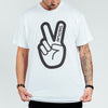 Deuce Brand basketball tshirt white NBA Peace Logo