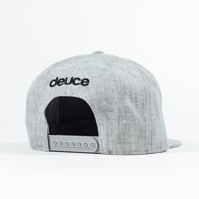 Deuce Brand Trucker Snapback hat grey with peace logo