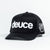 Deuce Brand Trucker Snapback hat black with peace logo