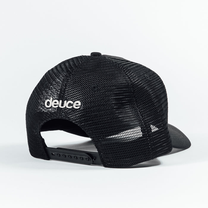 Deuce Brand Peace Logo Trucker Hat with Deuce script