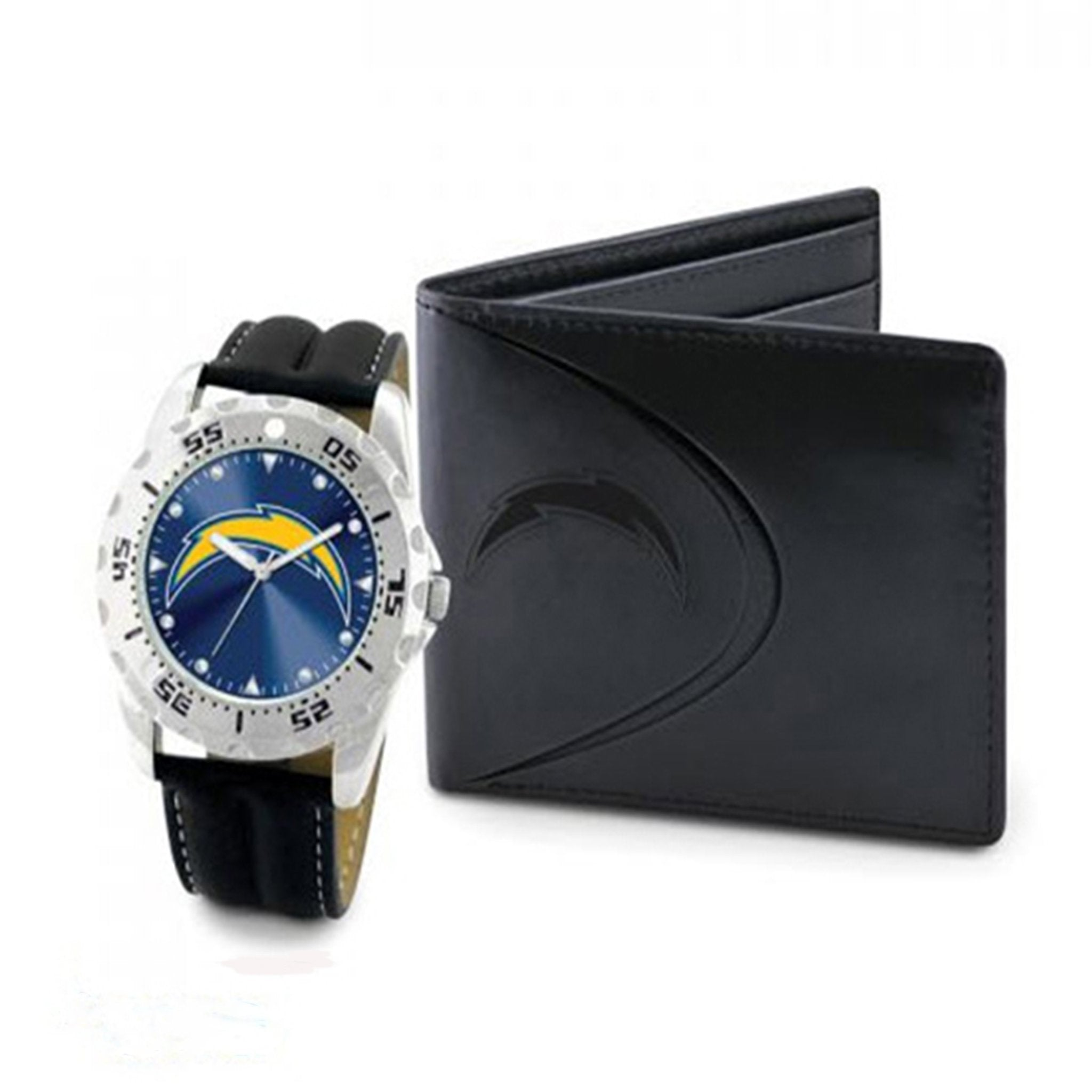 NFL San Diego Chargers Men's Watch and Wallet Set