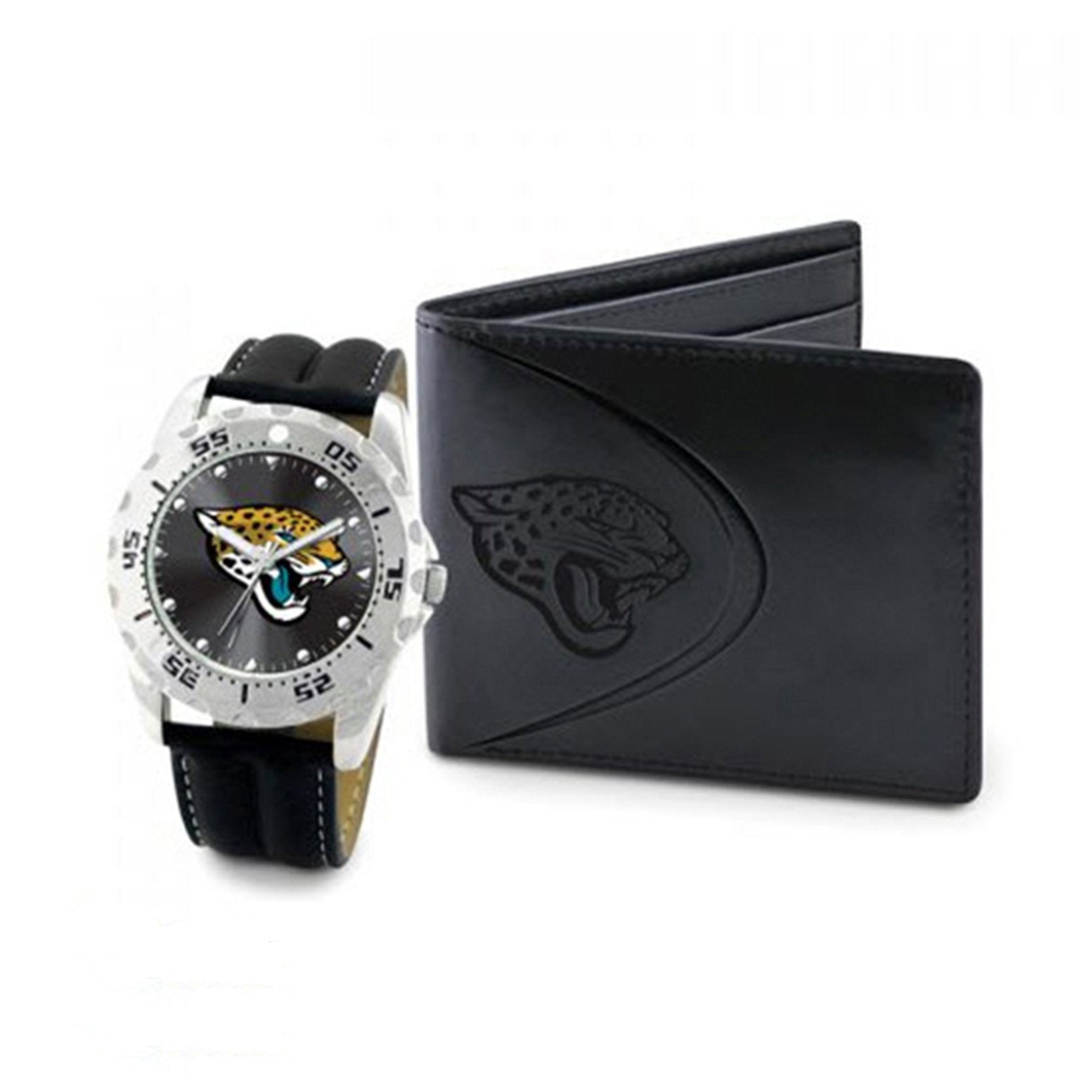 NFL Jacksonville Jaguars Men's Watch and Wallet Set