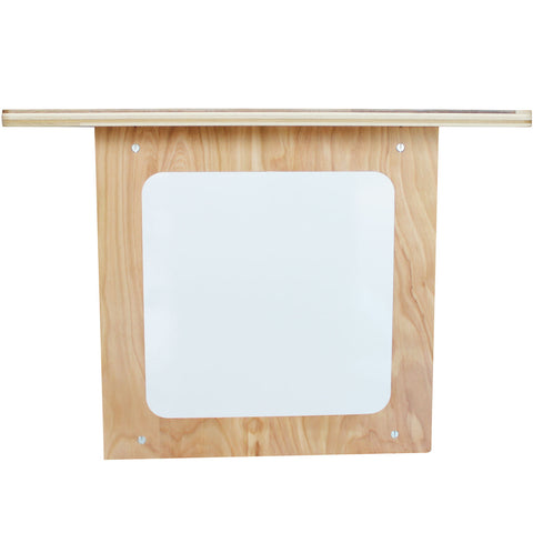White Board w/ Shelf (Birch, Satin)