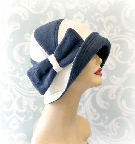 Thoroughly Modern Millie Cloche Hat in Soft Warm Fleece