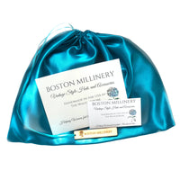 satin hat bag