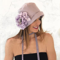 Lilac Eleanor cloche hat