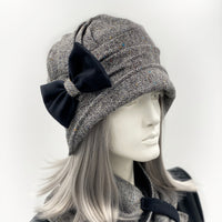 Also available is the matching narrow  brim Alice Cloche hat