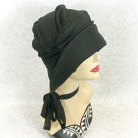 Flapper Style Wool Hat with Wide Front Brim | The Alice Cloche Hat