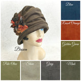 Velvet hat the Alice Cloche color chart