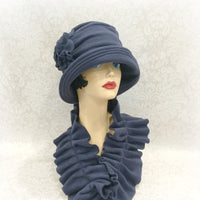 Downton Inspired cloche hat fleece