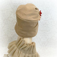 Downton Abbey Style Cloche in Winter Wool with Hydrangea Accessory | The Alice Cloche