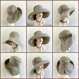 Linen Wide Brim Summer Hat - The Derby Cloche