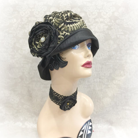 Evening and Occasion Wear Cloche - The Alice/ Evie - One Hat Multiple Looks