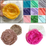 Chiffon rose brooches color options