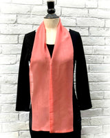 Living Coral Long Chiffon Scarf Boston Millinery