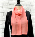 Womens Stylish Coral Scarf Boston Millinery