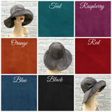 floppy brim gray velour velvet cloche color chart