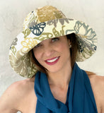 Floppy Brim Hat in Botanical Print Cotton | The Derby Cloche