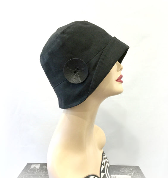 Rain Hat in Waxed Cotton | The Eleanor